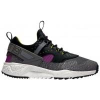 Nike Sportswear Air Huarache Utility Premium - Men's Shoes - Medium Berry/Black/Cactus/Dark Grey