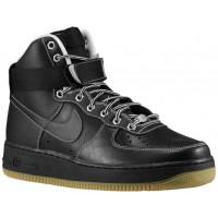 Nike Sportswear Air Force 1 High - Men's Casual Shoes - Black/White/Metallic Silver/Black