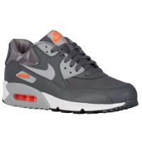 Nike Sportswear Air Max 90 Print - Men's Running Shoes - Dark Grey/Wolf Grey/White/Total Orange