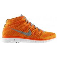 Nike Free Flyknit Chukka - Total Orange/Light Base Grey/Volt/White - Men's Training Shoe