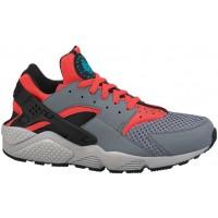 Nike Sportswear Air Huarache - Men's Shoes - Cool Grey/Bright Crimson/Black/Blue Legion