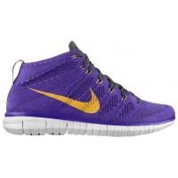 Nike Free Flyknit Chukka - Hyper Grape/Midnight Fog/Black/Atomic Mango - Men's Training Shoe