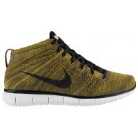 Nike Free Flyknit Chukka - Tarp Green/Seaweed/Gold Lead/Black - Men's Trainers