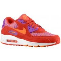 Nike Sportswear Air Max 90 - Men's Running Shoes - Light Crimson/Total Orange/Laser Purple