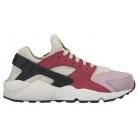Nike Air Huarache Suede Premium - Light Bone/Black/Noble Red/Plum Fog - Women's Shoes