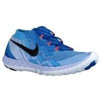 Nike Performance Free 3.0 Flyknit - Racer Blue/University Blue/Blue Tint/Black - Women's Running Shoe