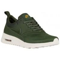 Nike Sportswear Air Max Thea Premium - Women's Running Shoes - Carbon Green/Sail/Metallic Gold