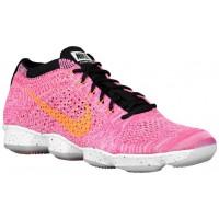 Nike Performance Flyknit Zoom Agility - Pink Pow/Black/Sport Fuchsia/Bright Citrus - Women's Training Shoe