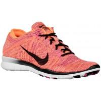 Nike Free TR 5 Flyknit - Ladies Running Shoe - Bright Citrus/Pink Pow/Black