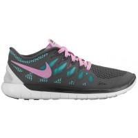 Nike Performance Free 5.0 - Dark Grey/Light Magenta/Hyper Turquoise - Women's Lightweight Running Shoes
