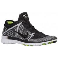 Nike Free TR 5 Flyknit - Ladies Running Shoe - Black/White/Volt