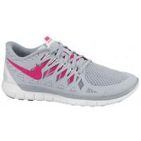Nike Performance Free 5.0 - Cool Grey/Vivid Pink/White - Ladies Running Shoe