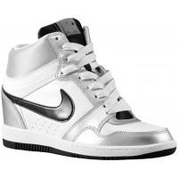 Nike Force Sky High Wedge - White/Metallic Silver/White/Black - Ladies Shoes