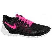 Nike Free 5.0 - Ladies Lightweight Running Shoes - Black/Pink Pow/White