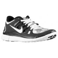 Nike Performance Free 5.0+ - White/Black - Women's Lightweight Running Shoes