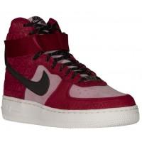 Nike Air Force 1 High Premium Suede - Noble Red/Black/Plum Fog - Ladies Shoes