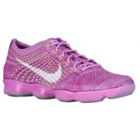 Nike Performance Flyknit Zoom Agility - Fuchsia Glow/Fuchsia Flash/Volt/White - Women's Sports Shoes