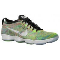 Nike Flyknit Zoom Agility - Black/Electric Green/Pink Pow/White - Women's Training Shoe