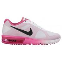 Nike Performance Air Max Sequent - Women's Running Shoe - White/Pink Blast/Black
