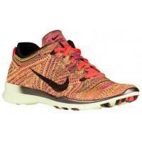 Nike Free TR 5 Flyknit - Hyper Orange/Black/Volt - Women's Running Shoe