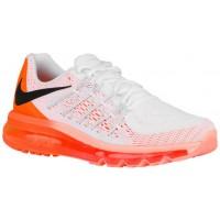 Nike Air Max 2015 - Ladies Running Shoes - White/Bright Citrus/Sunset Glow/Black