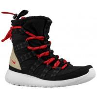 Nike Performance Roshe One Hi Sneakerboot Print - Black/Sail/Linen/University Red - Women's Shoe