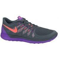 Nike Free 5.0 - Women's Training Shoe - Dark Magnet Grey/Hyper Grape/Bright Mango