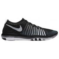 Nike Free Transform Flyknit - Women's Running Shoe - Black/White/Wolf Grey/Gamma Blue