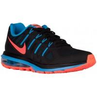 Nike Performance Air Max Dynasty - Women's Running Shoes - Black/Blue Glow/Bright Mango