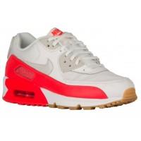 Nike Air Max 90 Essentials - Summit White/Light Brown/Bright Crimson - Ladies Trainers