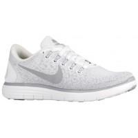 Nike Performance Free RN Distance - Women's Training Shoe - White/Wolf Grey/Pure Platinum
