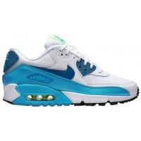 Nike Air Max 90 Essential - White/Green Abyss/Blue Lagoon - Ladies Trainers