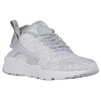 Nike Air Huarache Run Ultra Jacquard - White/Metallic Silver/Wolf Grey - Women's Shoes