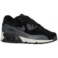 Nike Sportswear Air Max 90 Leather - Ladies Running Shoes - Black/Metallic Hematite/Dark Grey