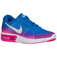 Nike Performance Air Max Sequent - Ladies Shoes - Photo Blue/Pink Blast/Dark Grey/White