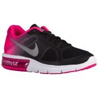 Nike Air Max Sequent - Ladies Running Shoe - Black/Pink Foil/Cool Grey/Metallic Silver