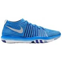 Nike Free Transform Flyknit - Ladies Running Shoe - Blue Glow/White/Deep Royal/Racer Blue