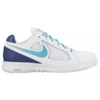 Nike Sportswear Air Vapor Ace - Women's Outdoor Ten'snis Shoe - White/Dark Purple/Hyper Pink/Gamma Blue