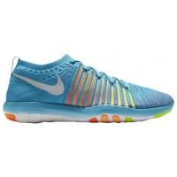 Nike Free Transform Flyknit - Ladies Running Shoe - Gamma Blue/White/Total Orange/Peach Cream