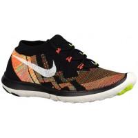 Nike Performance Free 3.0 Flyknit - Black/Hyper Orange/Volt/Sail - Women's Training Shoe