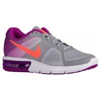 Nike Performance Air Max Sequent - Wolf Grey/Vivid Purple/White/Hyper Orange - Ladies Trainers