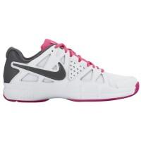 Nike Air Vapor Advantage - Women's Outdoor Ten'snis Shoe - White/Hyper Pink/Vivid Pink/Dark Grey