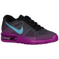 Nike Performance Air Max Sequent - Black/Hyper Violet/Dark Grey/Gamma Blue - Ladies Running Shoe