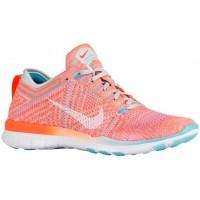 Nike Free TR 5 Flyknit - Women's Running Shoe - Total Orange/White/Gamma Blue/Pure Platinum