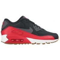 Nike Air Max 90 Essential - Women's Trainers - Black/Dark Grey/Bright Crimson/Silver