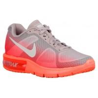 Nike Performance Air Max Sequent - Bright Mango/White/Bright Crimson - Women's Trainers