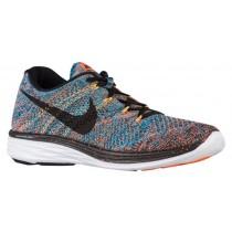 Nike Flyknit Lunar 3 - Men's Shoes - Total Orange/Blue Lagoon/Laser Orange/Black