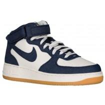 Nike Air Force 1 Mid - Men's Sneaker - Obsidian/Obsidian/Sail/Gum Light Brown