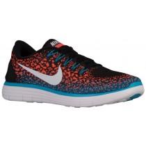 Nike Performance Free RN Distance - Black/White/Hyper Orange/Blue Lagoon - Men's Trainers