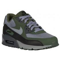 Nike Sportswear Air Max 90 Essential - Cool Grey/Black/Carbon Green - Men's Running Shoes